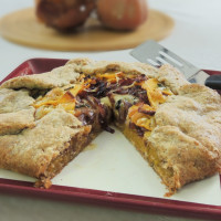 Butternut Squash Crostata with Arugula-Apple Salad