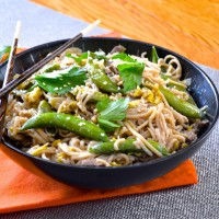 Beef, Cabbage, and Soba Noodle Stir-Fry