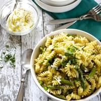 Spring Vegetable Pasta with Lemon Herb Ricotta