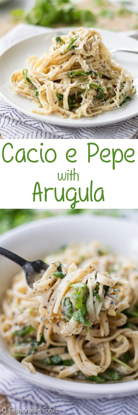 Cacio e Pepe with Arugula Pin
