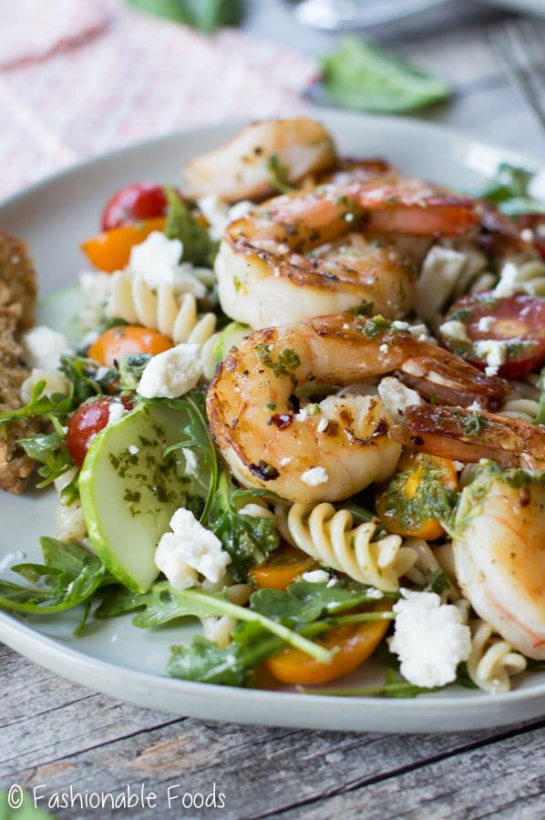 Mediterranean Shirmp And Pasta Salad