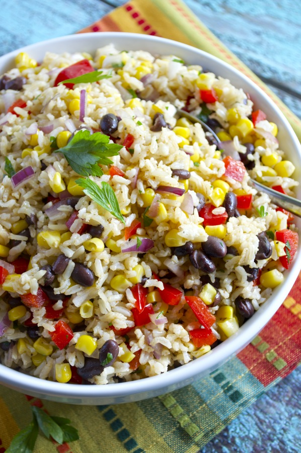 Southwest Brown Rice Salad Fashionable Foods