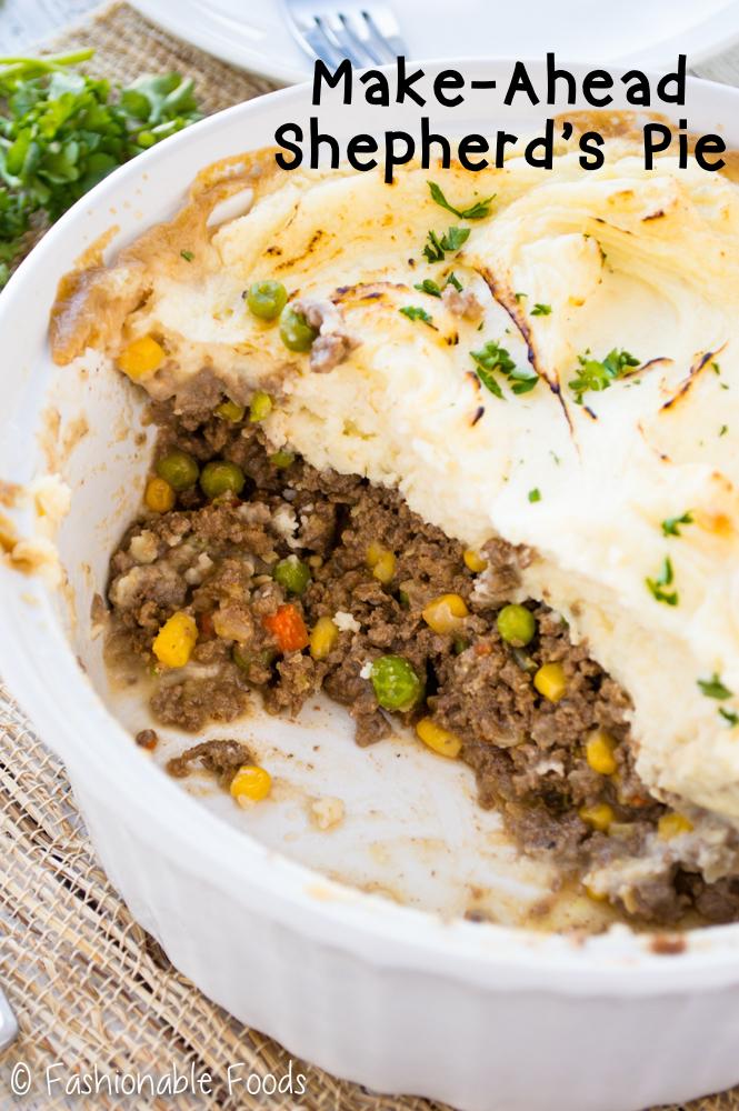 Make Ahead Monday Shepherd S Pie Fashionable Foods