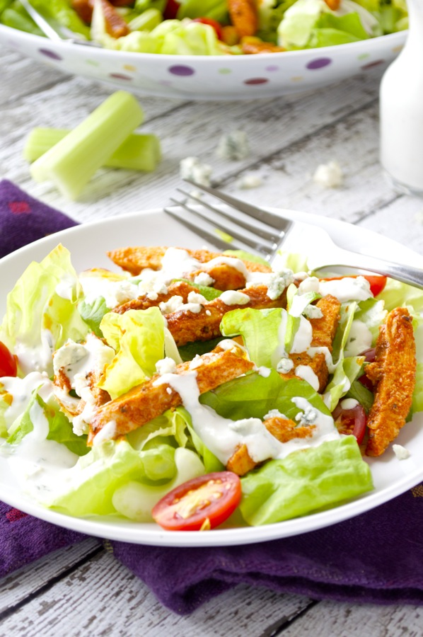buffalo wings but with a healthy twist. This buffalo chicken salad ...