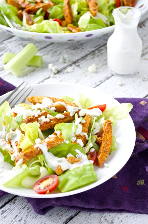Buffalo Chicken Salad Plated