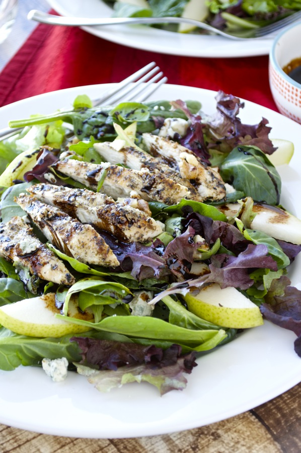 Grilled Chicken Salad with Balsamic Glaze