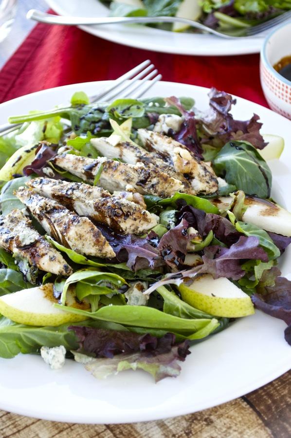 Grilled Chicken Salad with Balsamic Glaze