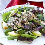 Grilled Chicken, Pear and Blue Cheese Salad
