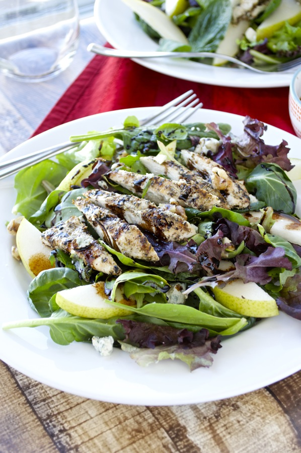 Grilled Chicken Salad with Pears