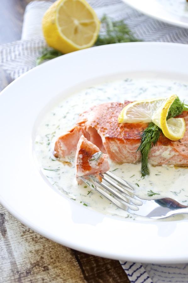Lemon Dill Salmon Bite