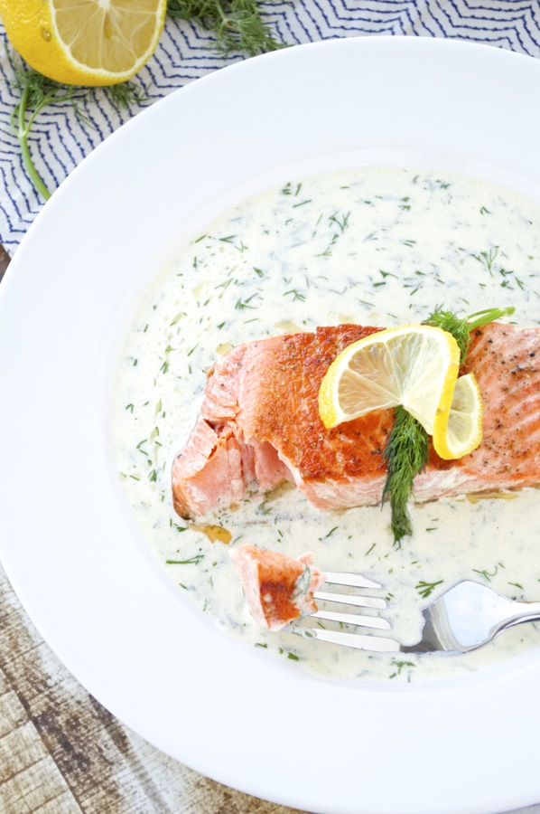 Lemon and Dill Salmon Bite