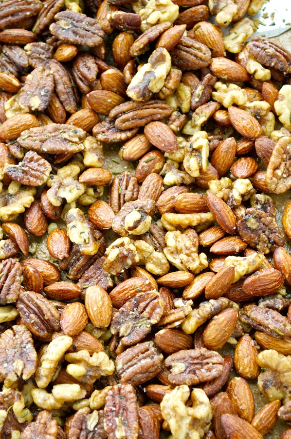 Sweet and Spicy Herbed Nuts