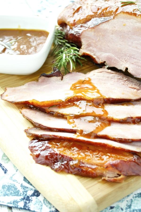 Apricot Riesling Glazed Ham