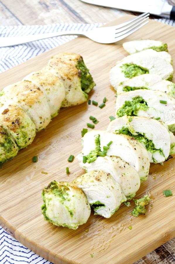Arugula and Spinach Pesto Chicken