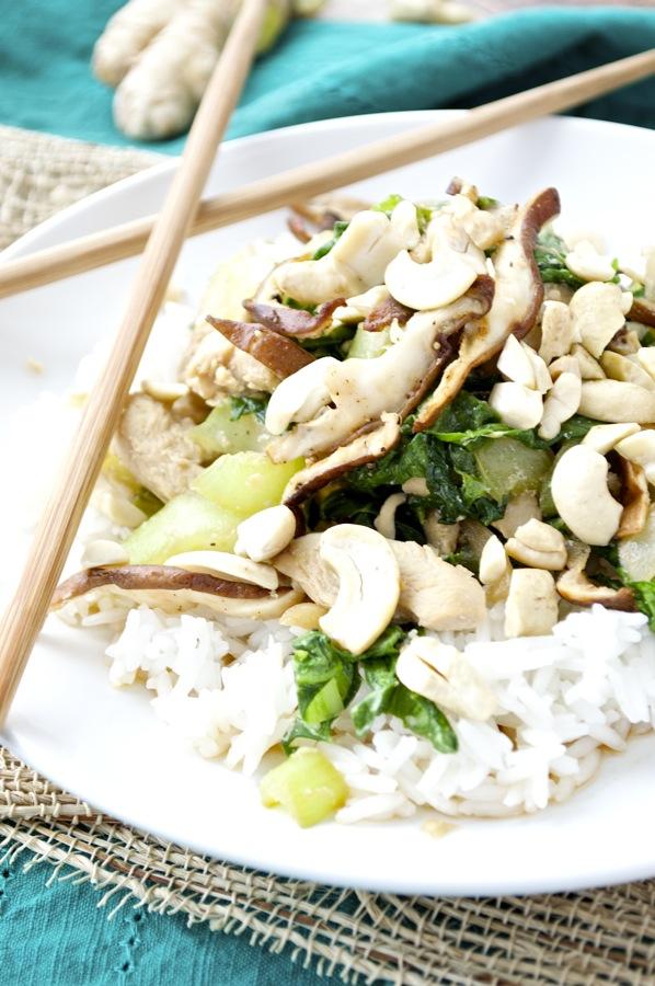 Bok Choy and Chicken Stir Fry