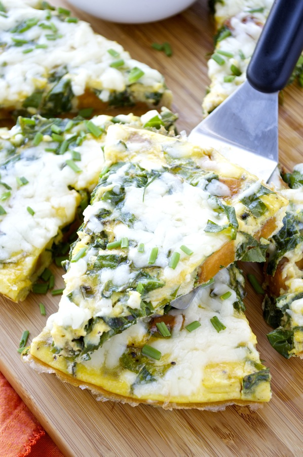 Collard and Sweet Potato Frittata