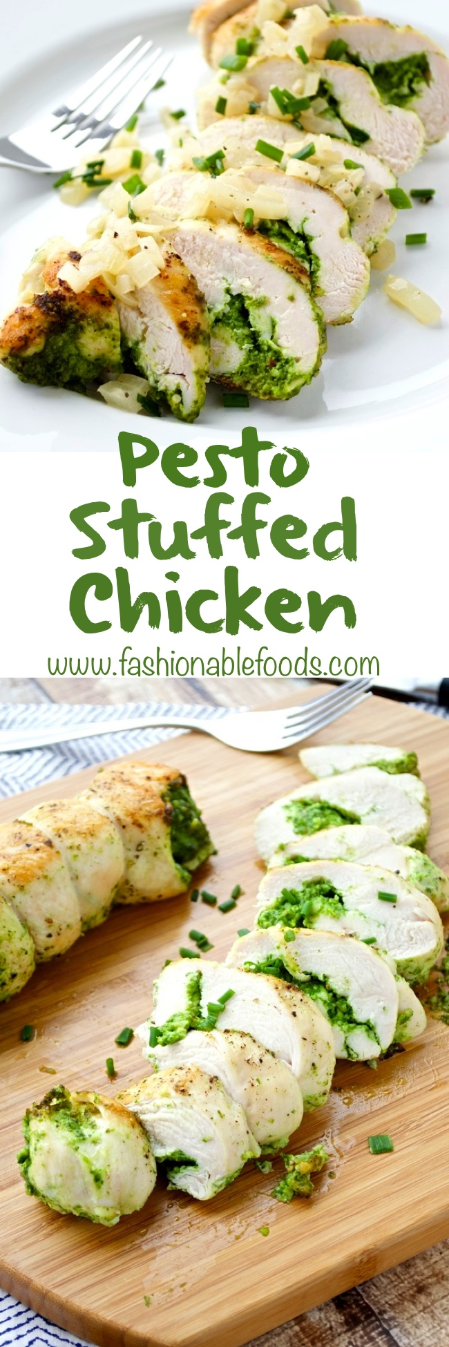 Pesto Stuffed Chicken Pin
