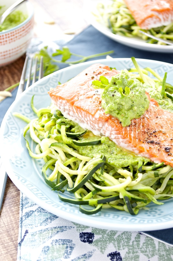 Salmon Pea Pesto
