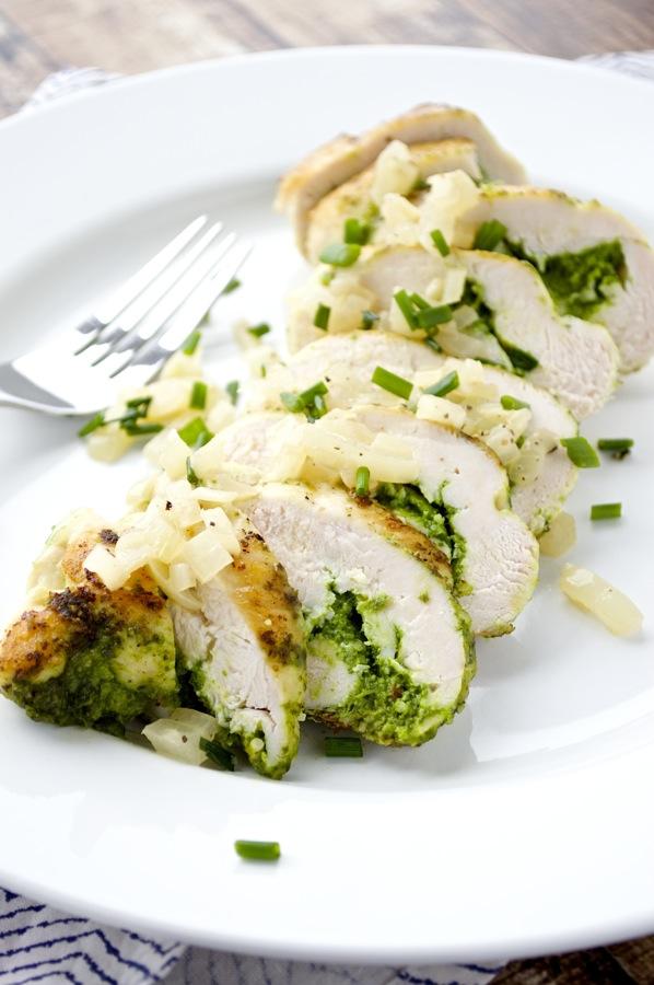 Spinach and Arugula Stuffed Chicken