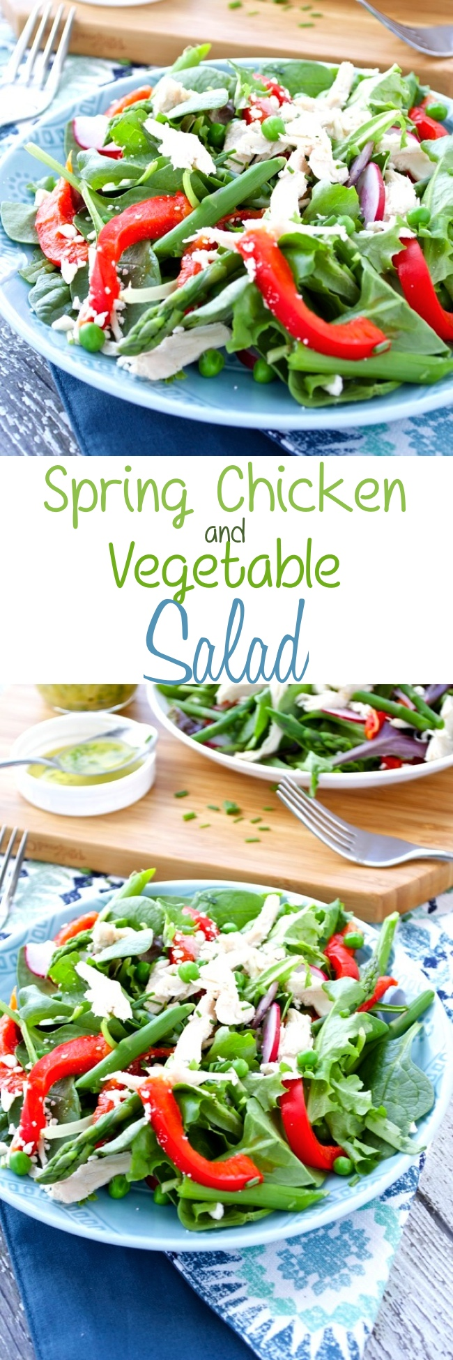 Spring Chicken and Vegetable Salad Pin