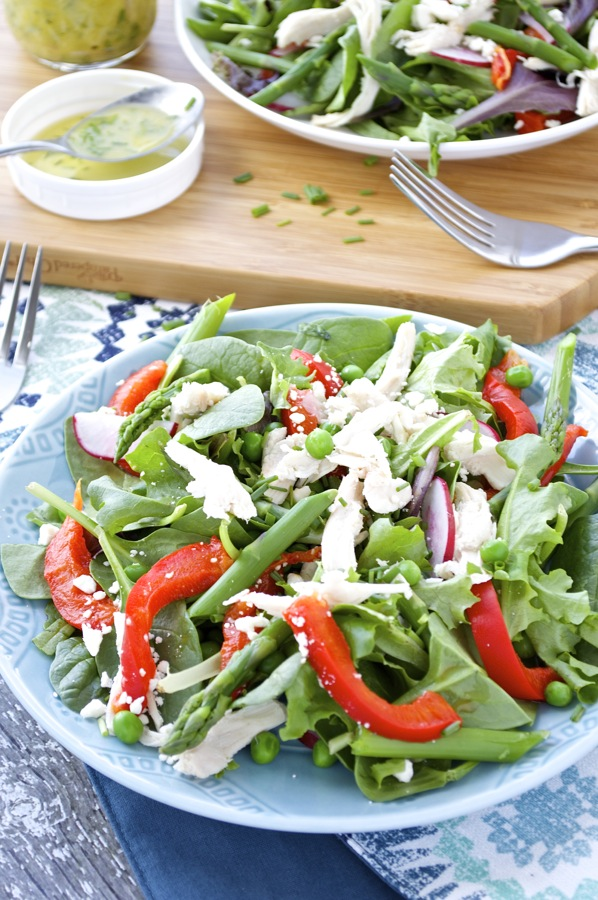 Spring Chicken and Vegetable Salad