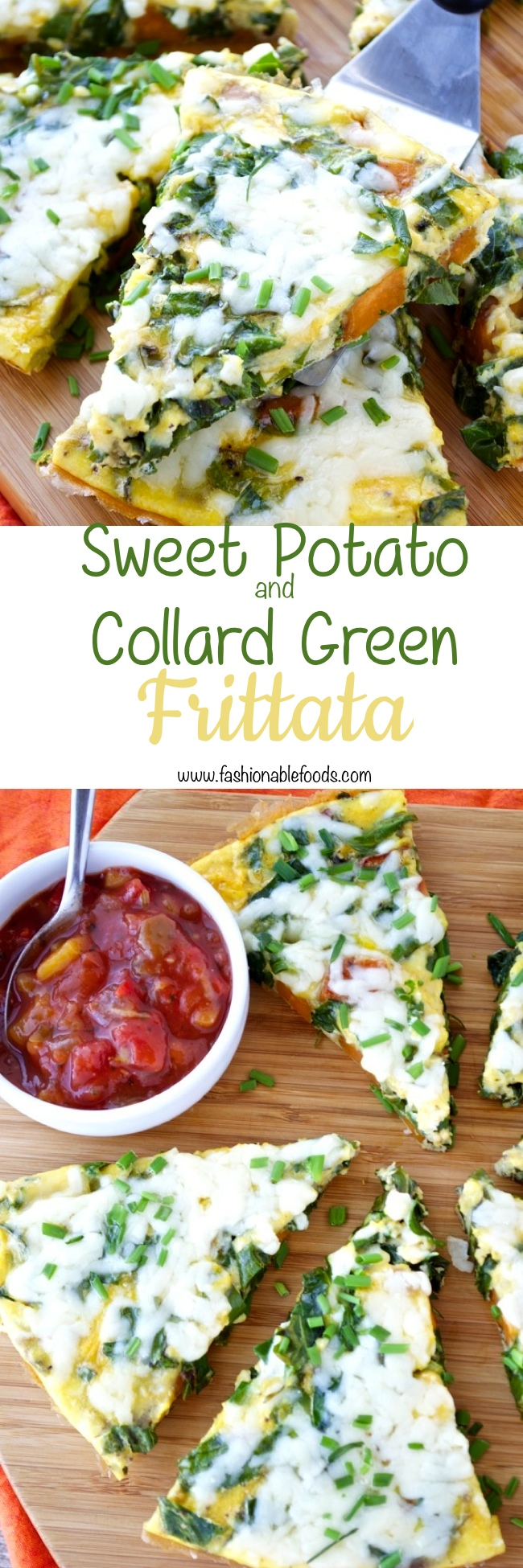 Sweet Potato and Collard Green Frittata Pin