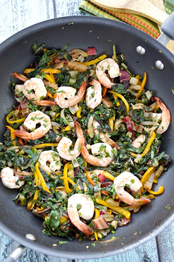 Swiss Chard and Shrimp Saute