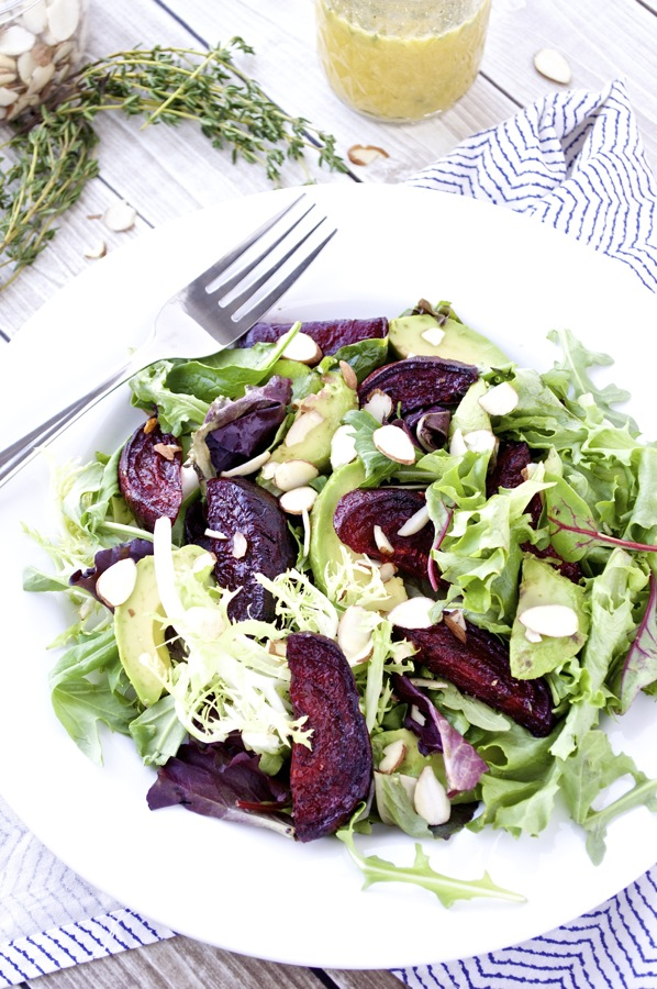 Avocado and Beet Salad