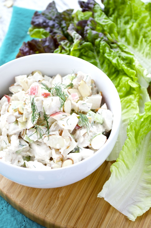 Chicken salad with apples and almonds fashionable foods chicken salad with apples and almonds forumfinder Images