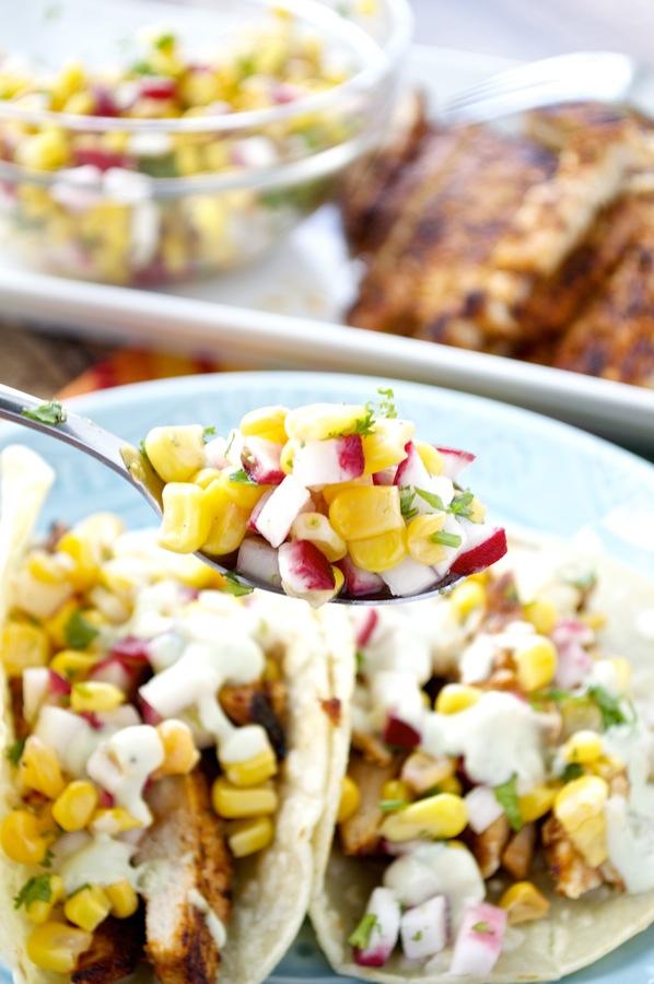 Corn Radish Salsa