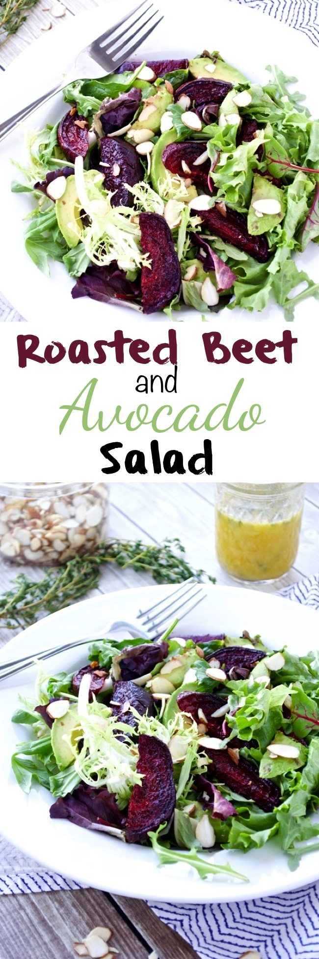 Roasted Beet and Avocado Salad Pin