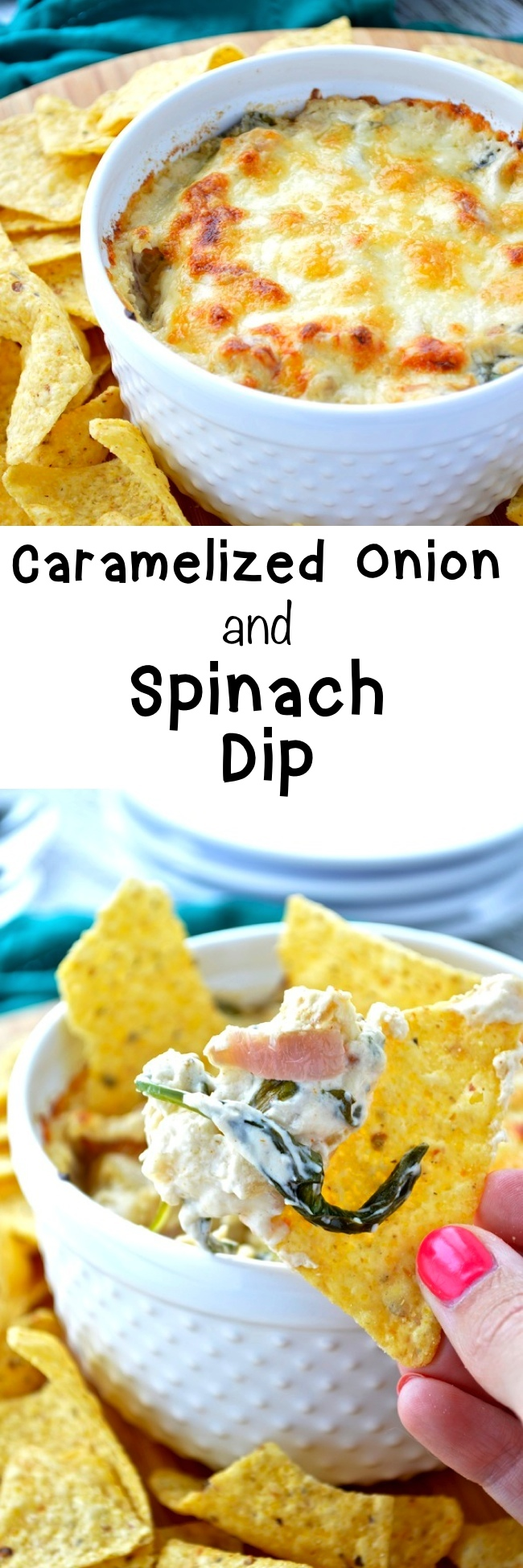 Caramelized Onion and Spinach Dip Pin
