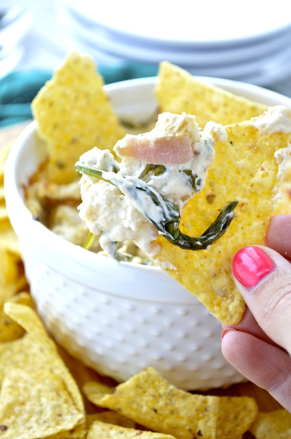 Hot Caramelized Onion and Spinach Dip