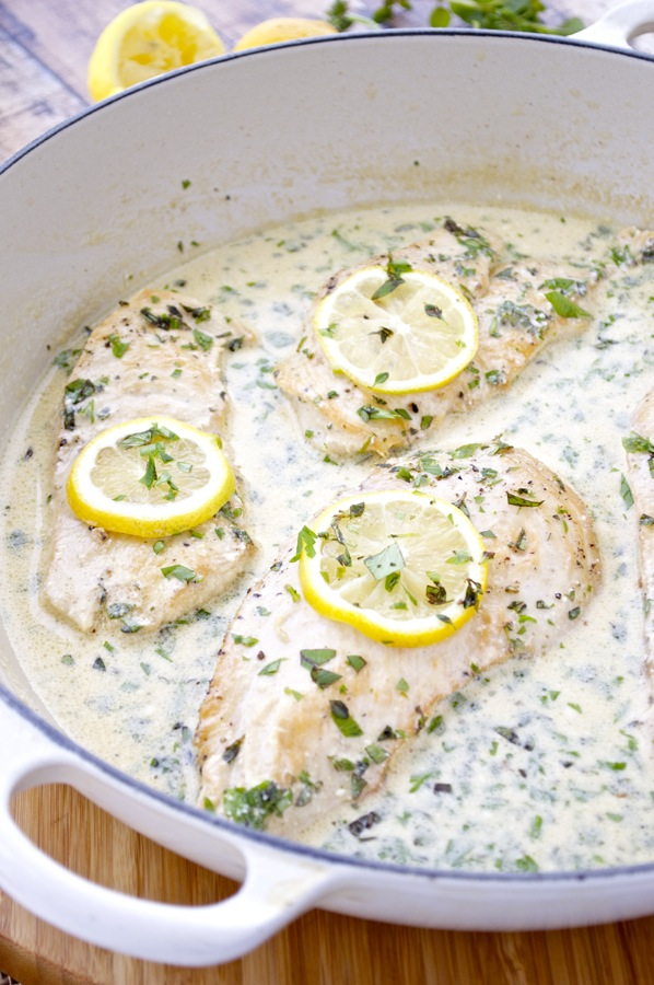 Chicken Cutlets with Lemon-Herb Cream Sauce - Fashionable ...