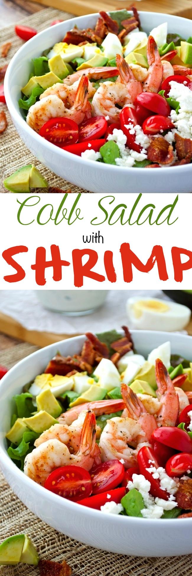 Cobb Salad with Shrimp Pin