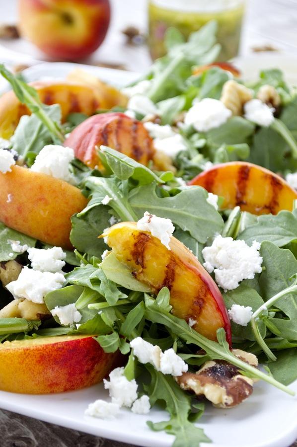 Grilled Peach and Arugula Salad