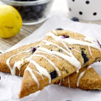 Paleo Blueberry-Lemon Scones