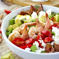 Cobb Salad with Shrimp