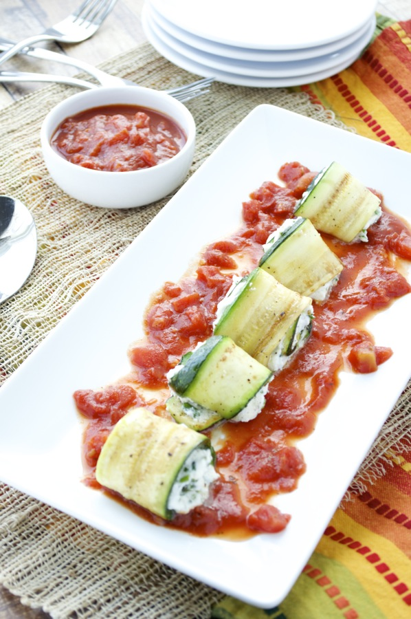 Zucchini and Ricotta Rolls