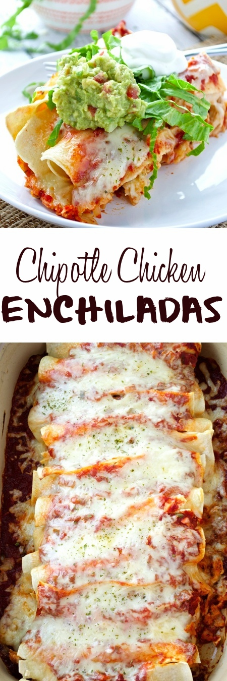 Chipotle Chicken Enchiladas Pin