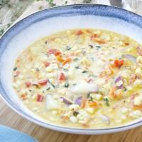 Summer Corn Chowder {Dairy Free, Gluten Free, Vegan}