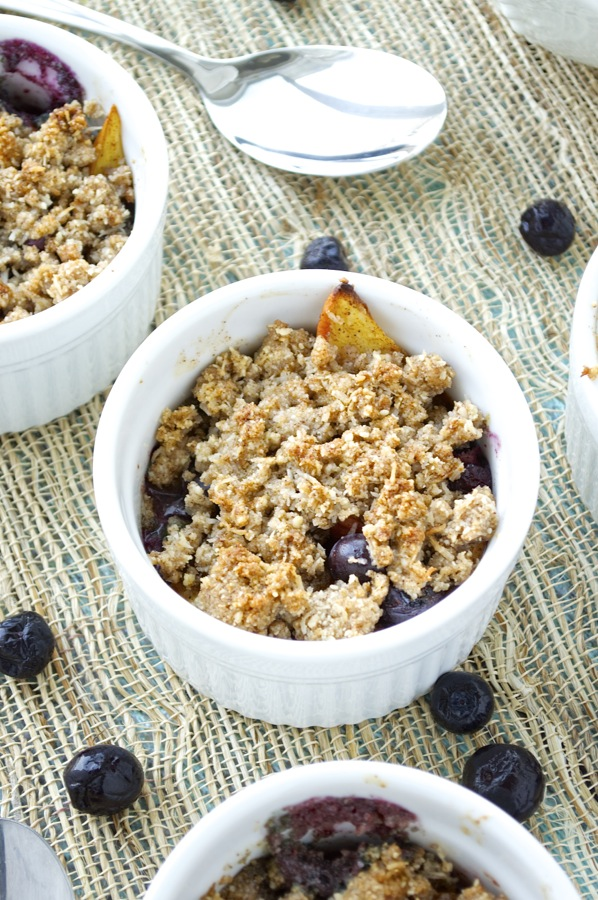 Individual Blueberry Peach Crisps