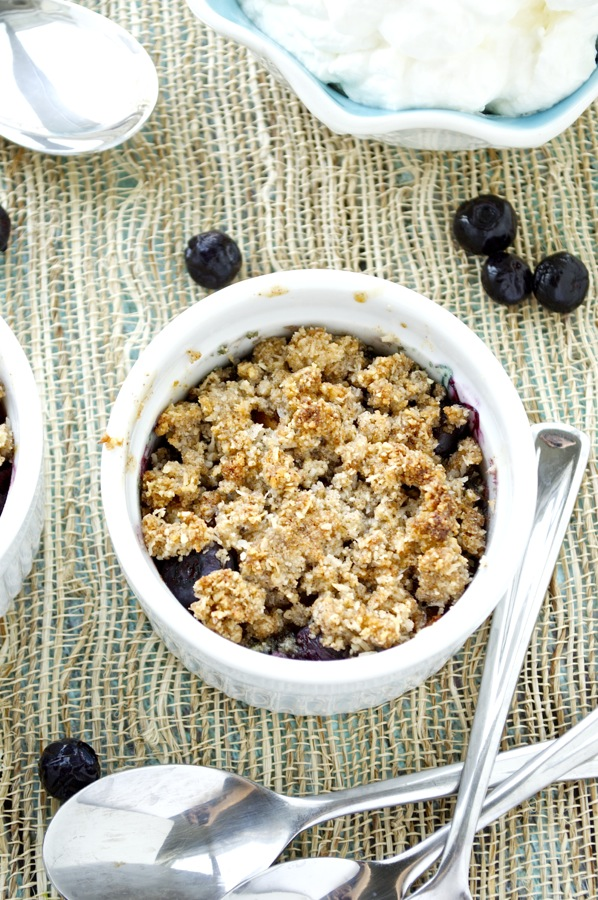 Paleo Blueberry Peach Crisp