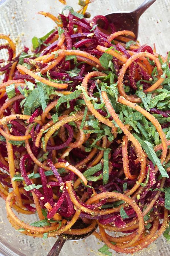 Spiralized Beet Noodles