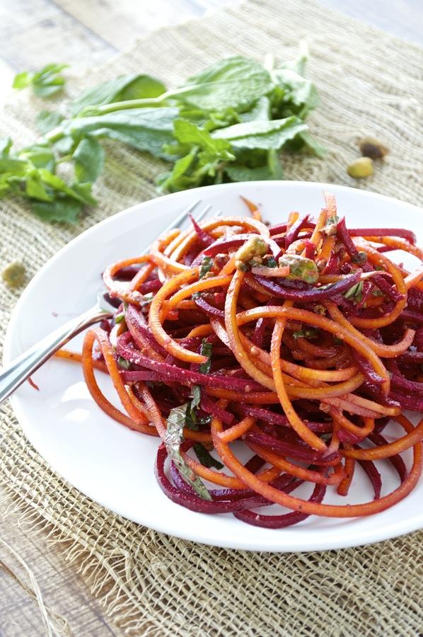 Spiralized Beet Salad Fashionable Foods