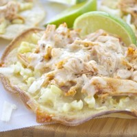 Chipotle Chicken and Roasted Corn Tostadas
