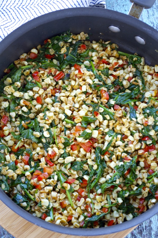Corn and Spinach Filling