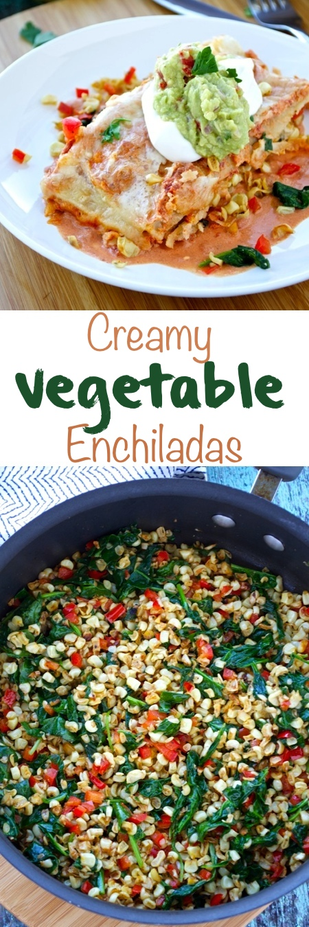 Creamy Vegetable Enchiladas Pin