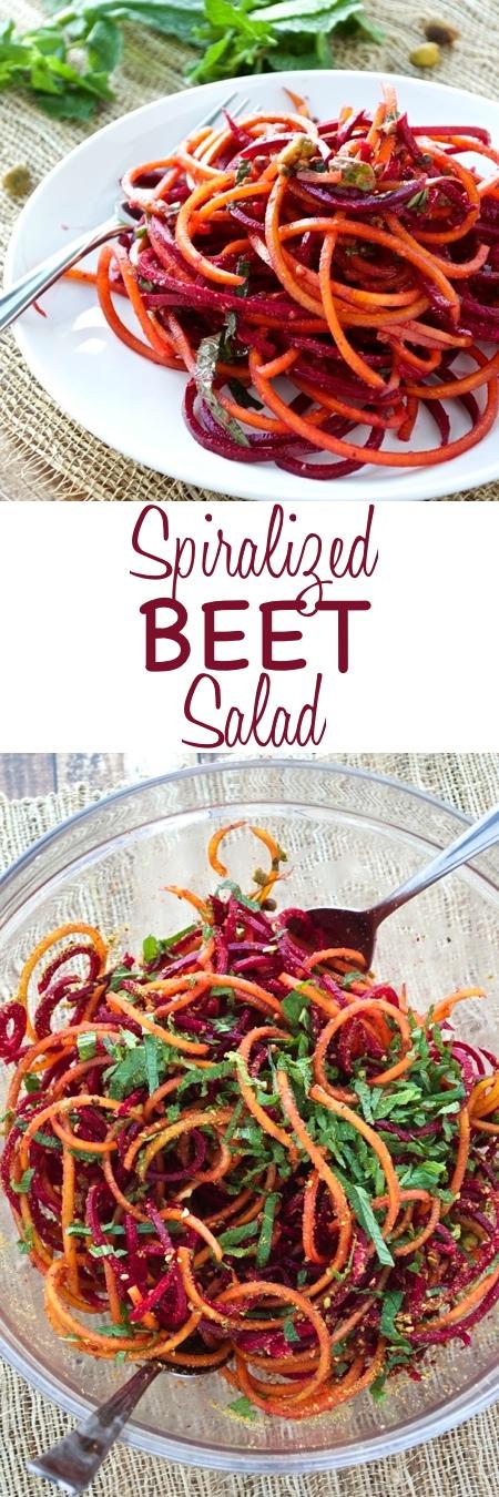 Spiralized Beet Salad Pin