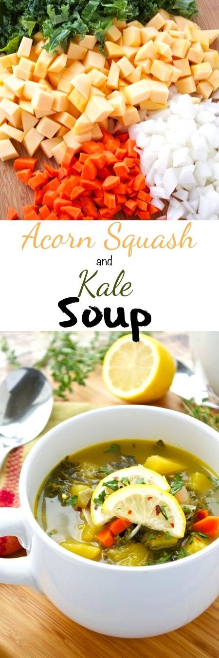 Acorn Squash and Kale Soup Pin